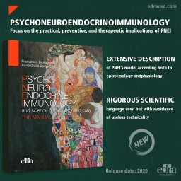 Psyco Neuro Endocrine Immunology and the science of the integrated medical treatment - The manual - Cover - Medicine Book