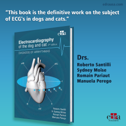 Electrocardiography of the dog and cat. Diagnosis of arrhythmias. II Edition - book cover - veterinary book