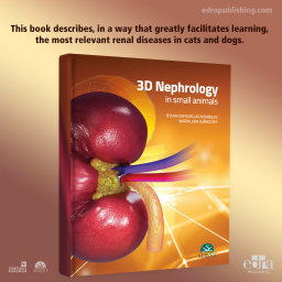 3D Nephrology in small animals - book cover - veterinary book