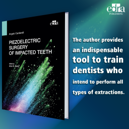 Piezoelectric surgery of impacted teeth - book cover - dentistry book - cardarelli
