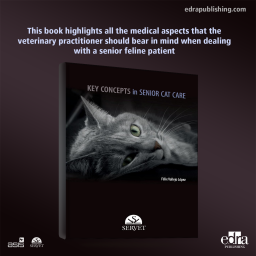 Key concepts in senior cat care - book cover - veterinary book