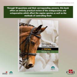 50 Q&A about Parasitic Infections of Horses - book cover - veterinary book