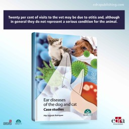 Ear Diseases in Dogs and Cats. Case studies - book cover - veterinary book