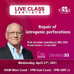 Live Dentistry Webinar - Continuing Education - Repair of iatrogenic perforations