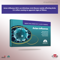 Avian influenza. Main challenges in poultry farming - book cover - veterinary book